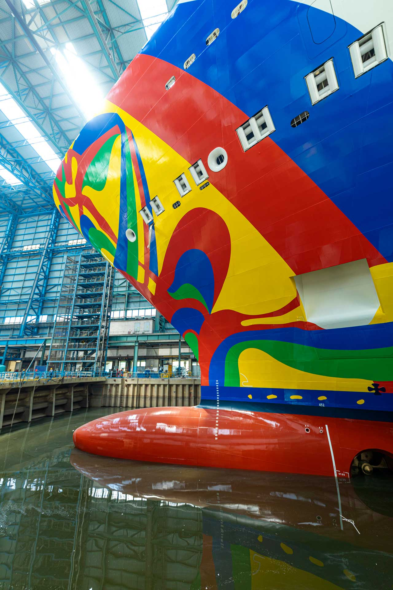 Norwegian Encore im Dock der Meyer Werft