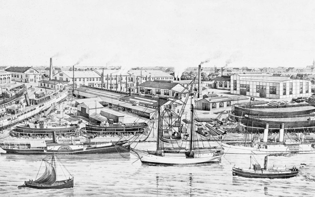 Viele historische Fotos, aber auch imposante Impressionen aus den Docks der MEYER WERFT gibt es in dem neuen Buch zum 225-jährigen Jubiläum. Foto: Archiv Meyer Werft