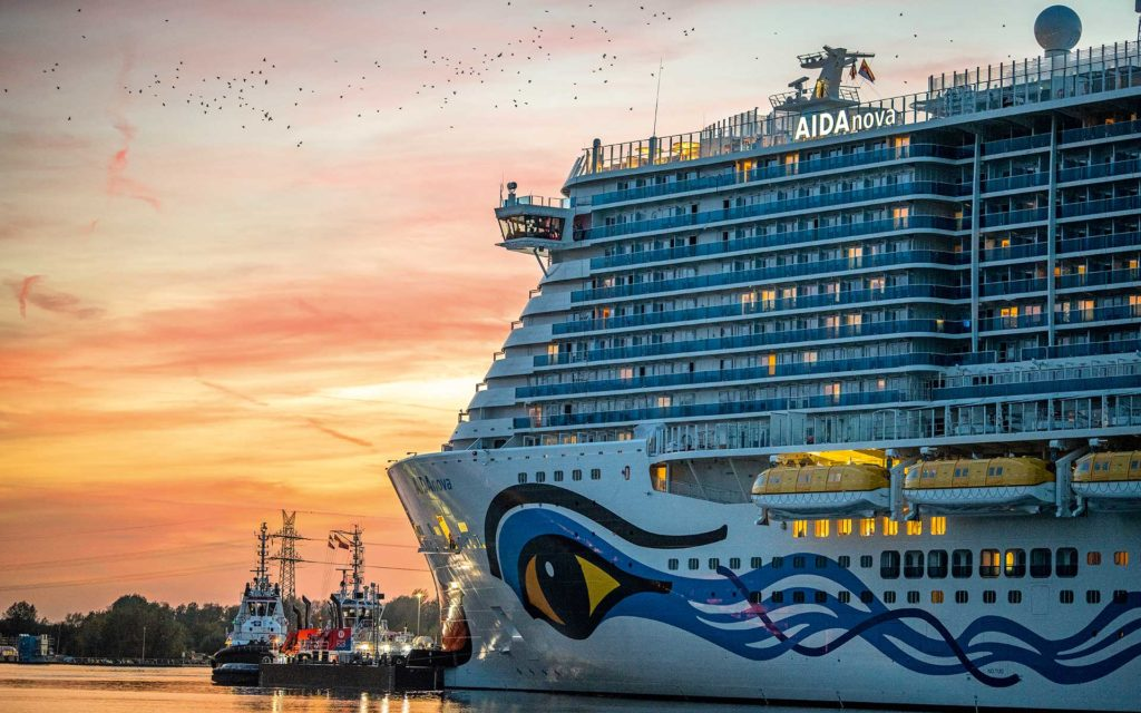 Der Neubau wird ein Schwesterschiff der Ende 2018 abgelieferten AIDAnova. Foto: Meyer Werft
