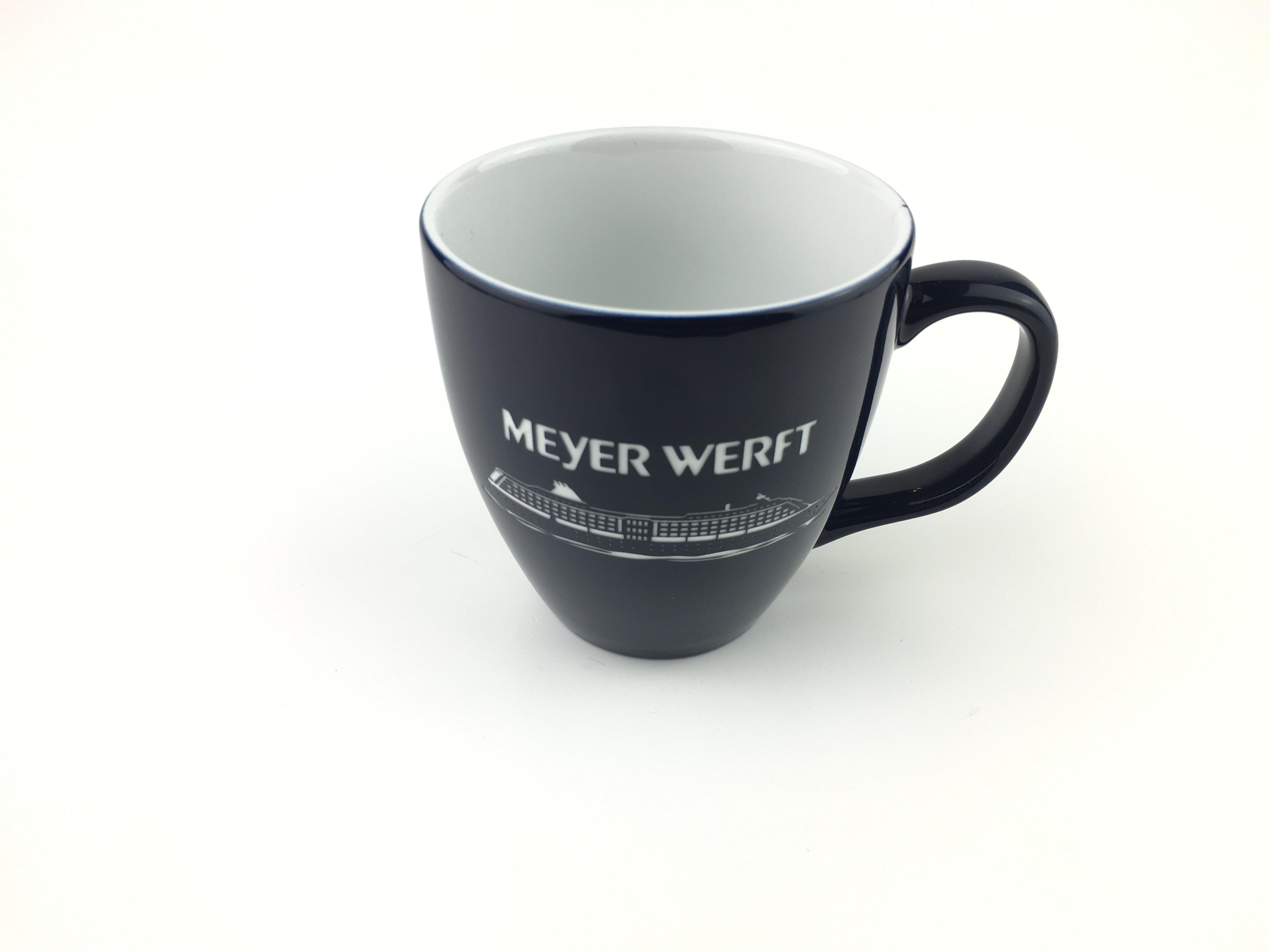 Meyer Werft Tasse, graviert