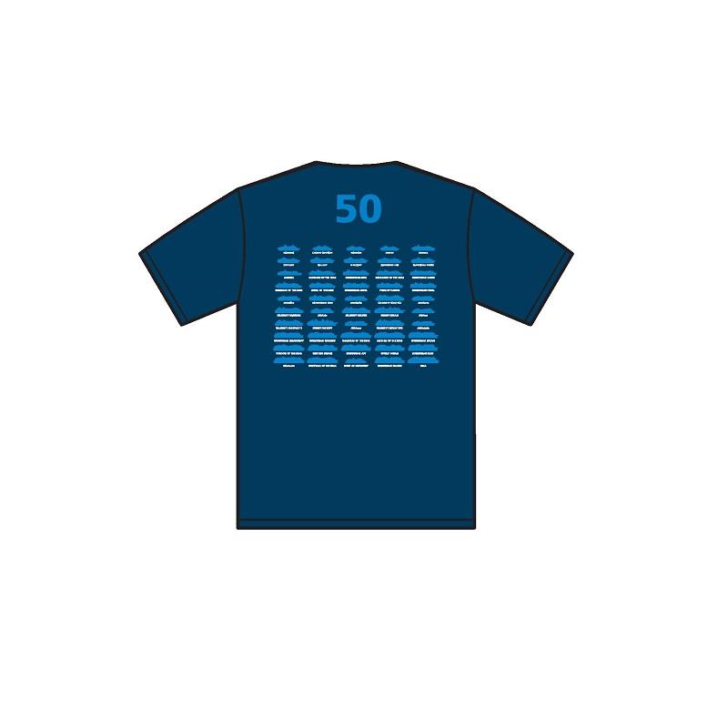 T-Shirt 50 Kreuzfahrtschiffe Rückseite
