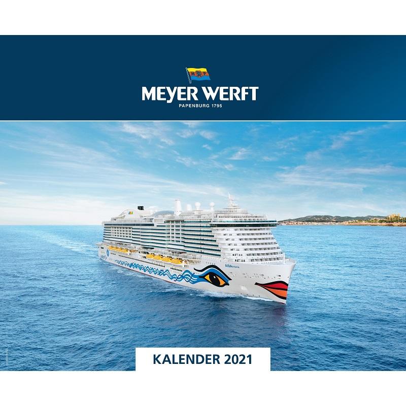 Wandkalender 2021 Meyer Werft Titelbild